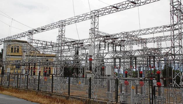 Una subestació elèctrica a Lleida.