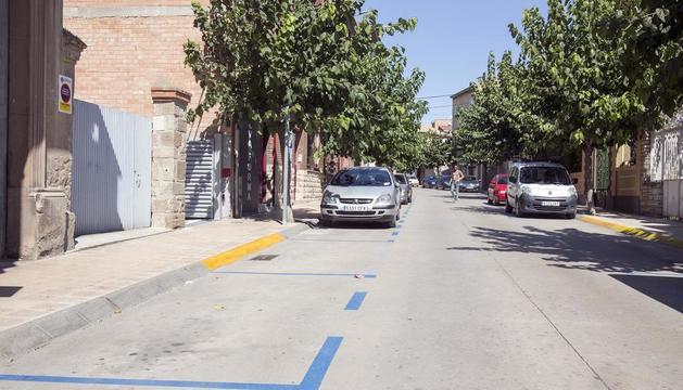 Les zones blaves d'estacionament que s'han habilitat a Guissona.