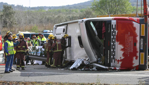 Imagen del accidente que le costó la vida a 13 estudiantes.