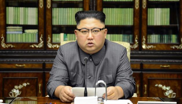 El líder nord-coreà, Kim Jong-un, en una aparició pública.