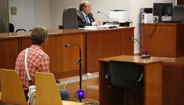 L'acusat, ahir, a l'Audiència Provincial de Lleida.
