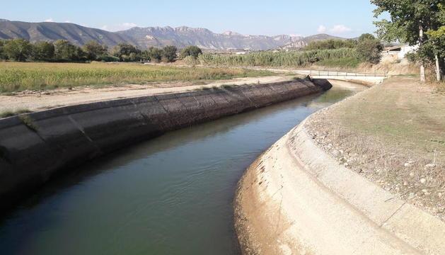 El tram de l'Auxiliar on s'haurà d'intervenir per reconstruir més d'un quilòmetre de canal.