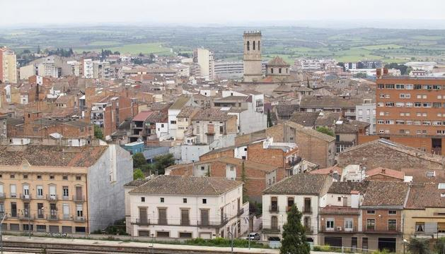 Vista de Tàrrega, donde el ayuntamiento está estudiando rebajar el tipo que se aplica al IBI.