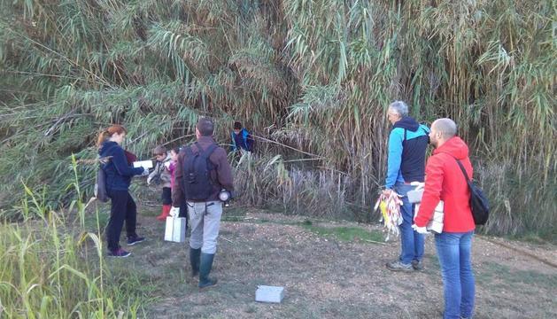 Un moment del desenvolupament de l'activitat a l'Estany d'Ivars i Vila-sana.