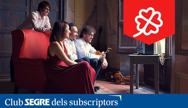 Imatge dels integrants del 'Quartet Teixidor'