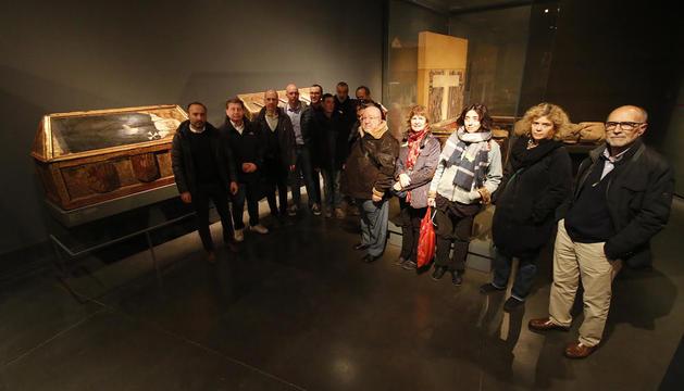 Representants d'entitats culturals van donar el seu suport dijous passat al Museu de Lleida.