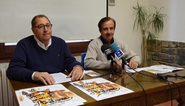 El alcalde, Celestí Vilà, y el edil Eduard Vives presentaron la Fira.