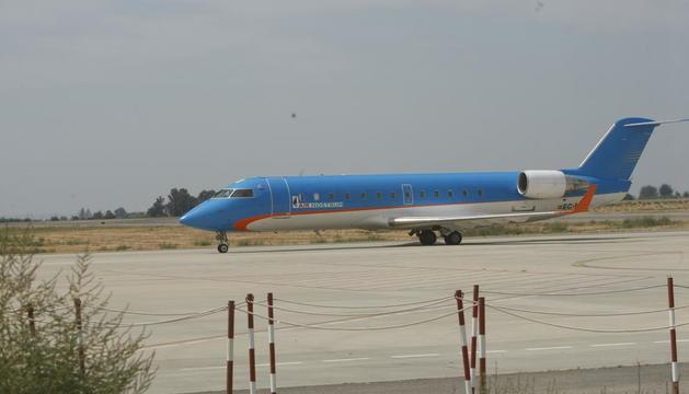 Uno de los aviones de Air Nostrum que han operado en el aeropuerto de Lleida durante el verano.