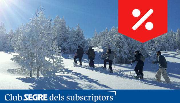 Una de les activitats d'hivern: les excursions amb raquetes de neu.