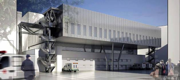 Recreació virtual del nou edifici previst per al bloc quirúrgic de l'Arnau de Vilanova.
