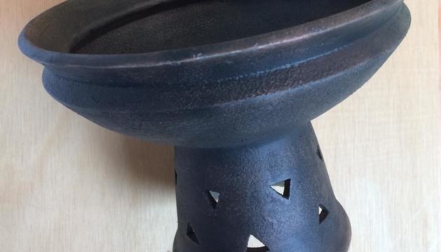 Recreación del vaso o bandeja ibérica con una impresora en 3D.