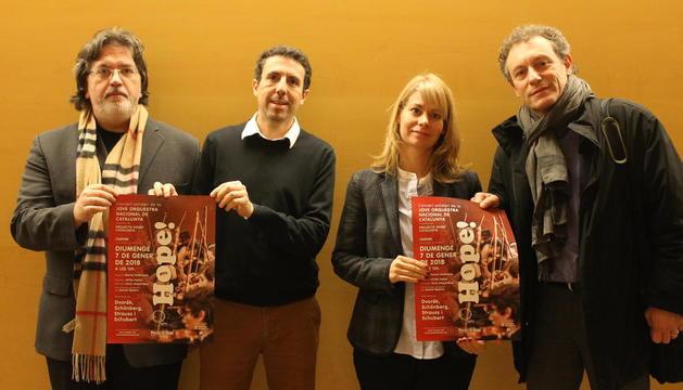Presentació ahir del concert per recaptar fons per a l'ONG.