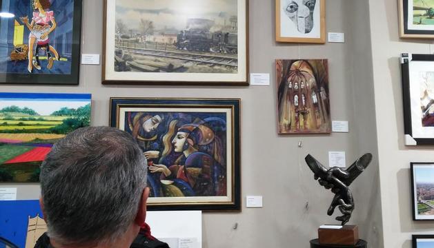 Imatge d'algunes de les obres exposades.