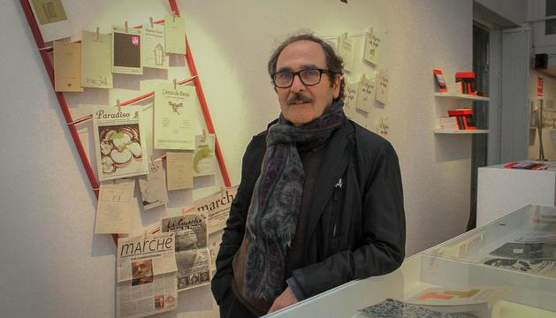 Jaume Pont, en una mostra a Tàrrega el 2017 sobre la seua obra.