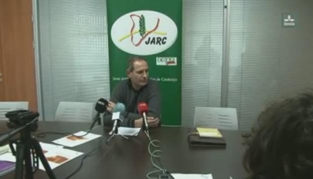 David Borda, cap sectorial de fruita dolça de Jarc i de Coag, en roda de premsa aquest dijous.