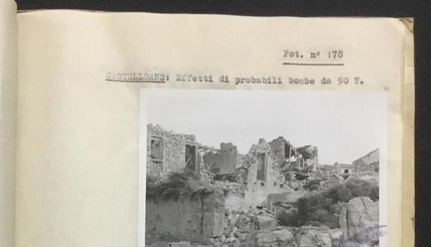 Subhasten a Màlaga imatges del bombardeig italià sobre Lleida