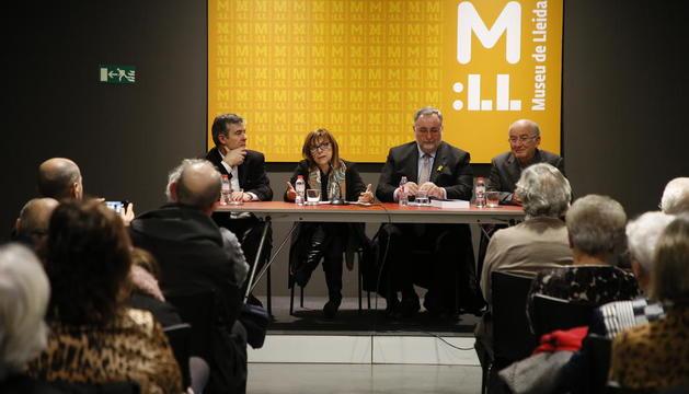Presentació ahir del llibre al Museu de Lleida, amb presència del director general de Patrimoni.