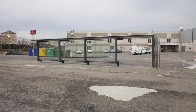 El lugar donde se instalarán los puntos de carga en Agramunt.