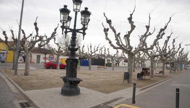 La plaza del Poliesportiu de Bellpuig que pasará a llamarse 1 d'Octubre.