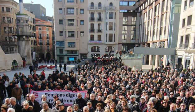 La Policía no pudo contener a los pensionistas en Madrid.