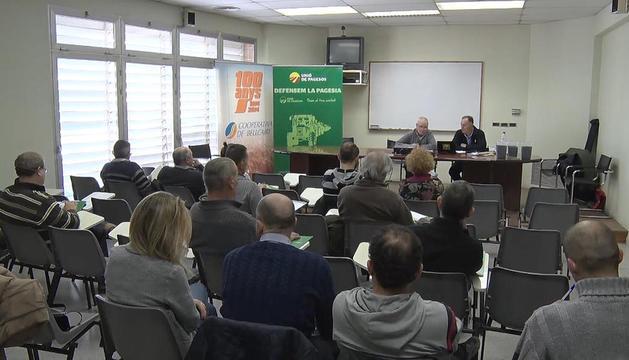 Imagen de la jornada que se celebró ayer en Bellcaire d'Urgell.