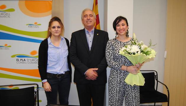 Àngels Marzo, junto con Joan  Trull y Àngels Moreno.