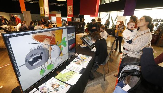 L'espai Animacrea va ser un dels punts neuràlgics de la tercera jornada de l'Animac.