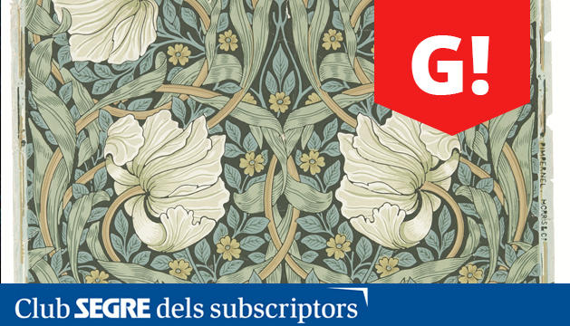 Paper pintat Pimpernel, obra de William Morris.
