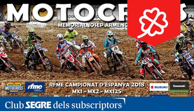El cartell del Campionat de Catalunya de Motocròs.