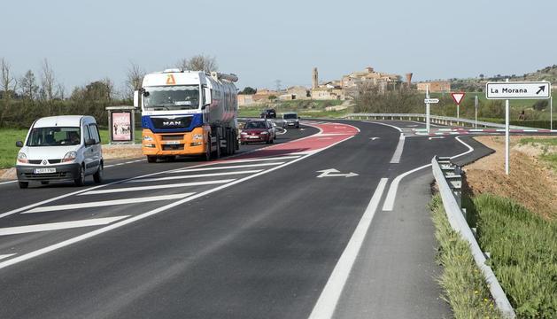 El estado actual de la carretera entre Tàrrega y Guissona.