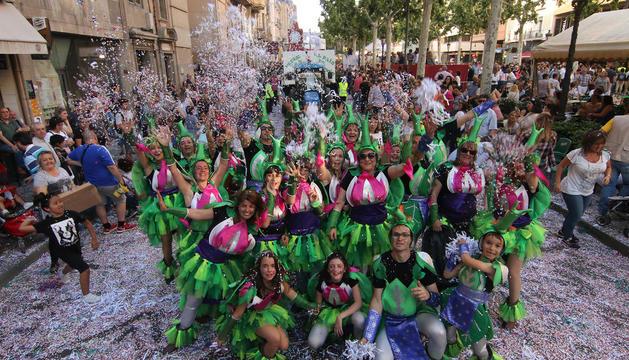 Lleida, un mar de confeti