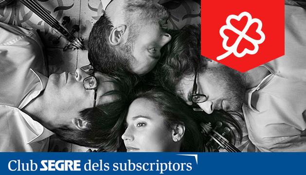 Foto dels membres del Quartet Teixidor.