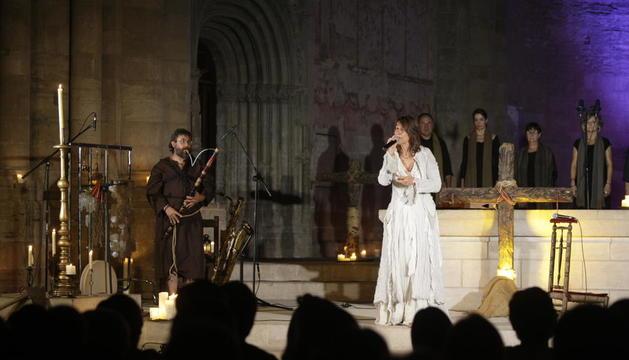 L'espectacle de Lídia Pujol, el 2015 a la Seu Vella de Lleida.