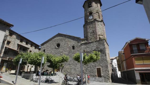 Imatge d'arxiu del centre històric de Vilaller.