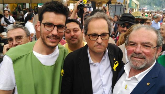 Torra demana a l'Aplec que Lleida respecti els llaços grocs i defensi la llibertat d'expressió