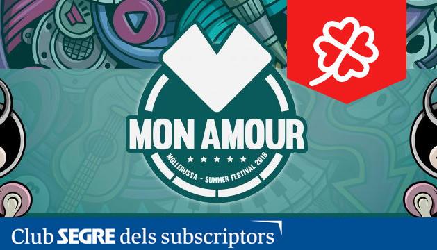 Cartell del Mollerussa Mon Amour Summer Festival.