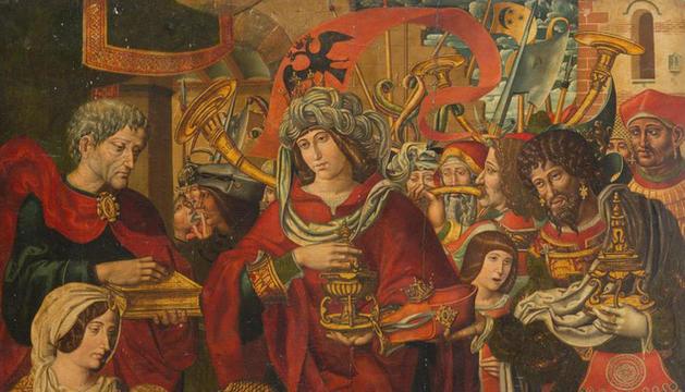 'Adoració dels Reis Mags', la taula que ha viatjat als EUA.