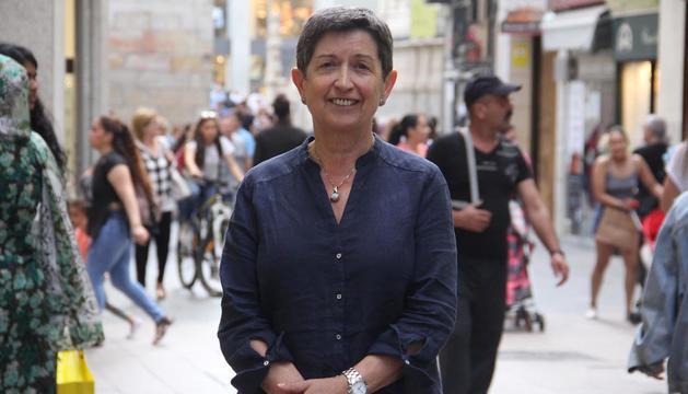 Teresa Cunillera, ahir a l'Eix Comercial de Lleida.