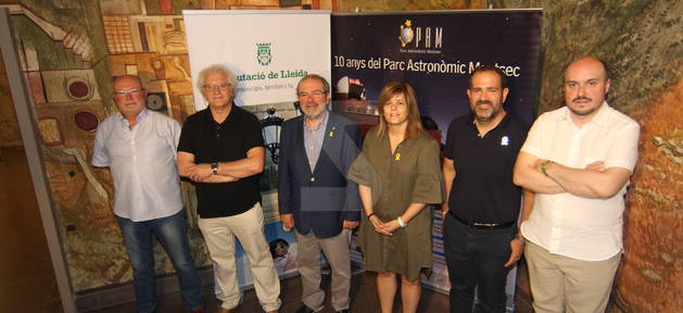 L'acte de presentació dels actes del 10è aniversari del Parc Astronòmic del Montsec