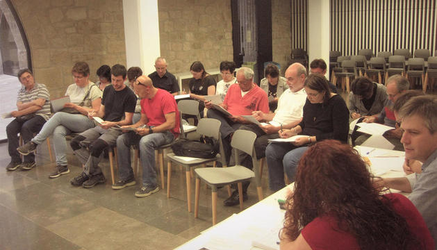 Imatge de la deliberació sobre el procés participatiu.