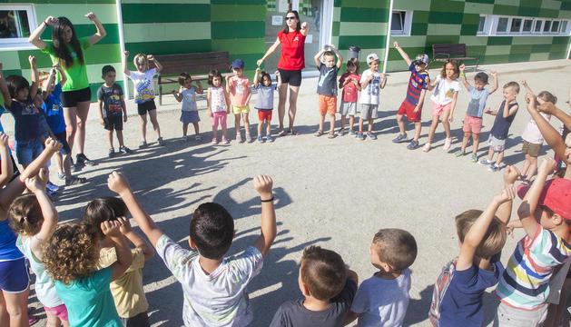 Casalet organitzat per Quàlia a Tàrrega a les instal·lacions de l'escola Maria-Mercè Marçal.