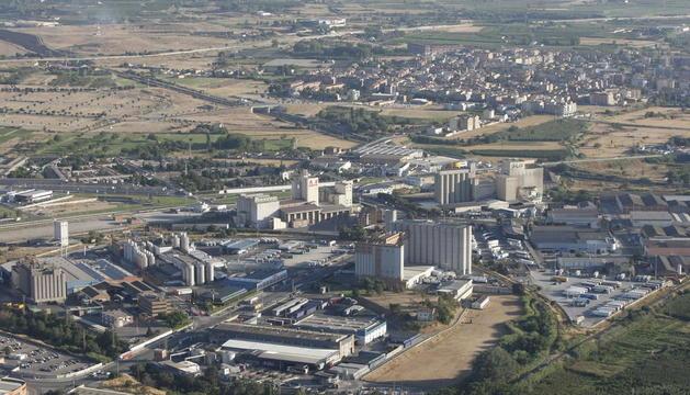 Vista aèria del polígon industrial El Segre de la capital del Segrià.