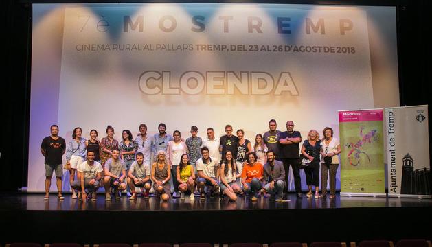 Foto final con premiados y organizadores, ayer en la gala de clausura del Festival Mostremp.