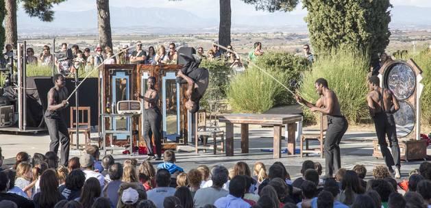 Un espectacle al Parc de Sant Eloi