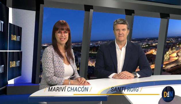 Mariví Chacón i Santi Roig, dos de les cares visibles del nou format televisiu, que arranca demà dilluns.