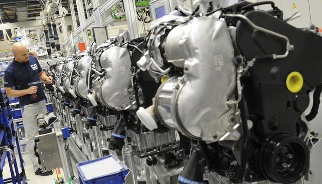 Una fábrica de coches en Alemania.