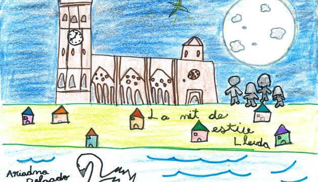 El dibuix d'Ariadna Maria Delgado, de 7 anys.