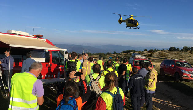Voluntaris ahir al dispositiu de recerca del boletaire perdut entre l'Alt Urgell i el Solsonès.