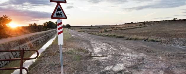 Imatge de les Oluges, on la carretera d'accés al municipi va quedar tancada.