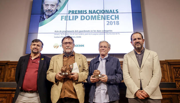 Momento de la entrega de los premios de Unió de Pagesos.